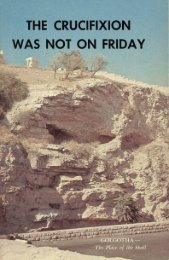 The Crucifixion Was Not on Friday - Church of God Faithful Flock