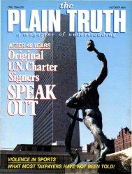 Plain Truth 1985 (Prelim No 08) Oct - Herbert W. Armstrong