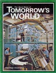 Tomorrows World 1971 (Vol III No 07) Jul - Herbert W. Armstrong