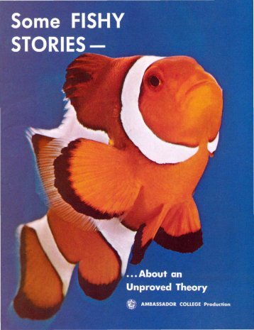 E Some Fishy Stories - About an Unproved Theory (Prelim 1971)