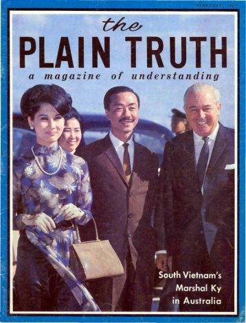 Plain Truth 1967 (Prelim No 02) Feb - Herbert W. Armstrong