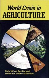 World Crisis in AGRICULTURE - Herbert W. Armstrong
