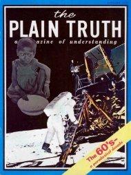 Plain Truth 1970 (Prelim No 01) Jan - Herbert W. Armstrong
