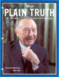 Plain Truth 1967 (Prelim No 05) May - Herbert W. Armstrong