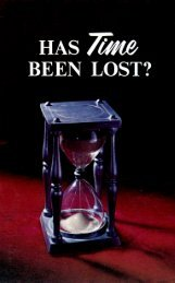 Has Time Been Lost (1972)_b.pdf - Herbert W. Armstrong