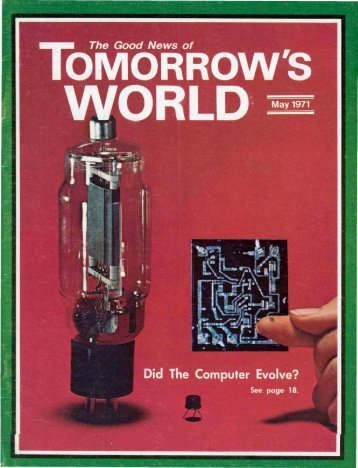 Tomorrows World 1971 (Vol III No 05) - Herbert W. Armstrong