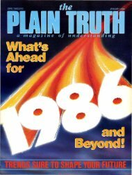 Plain Truth 1986 (Prelim No 01) Jan - Herbert W. Armstrong