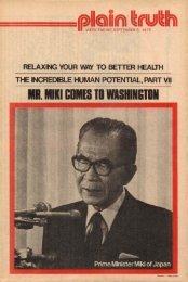 Plain Truth 1975 (Prelim No 15) Sep 06 - Herbert W. Armstrong