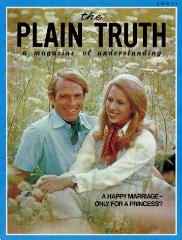 Plain Truth 1974 (Prelim No 03) Mar - Herbert W. Armstrong