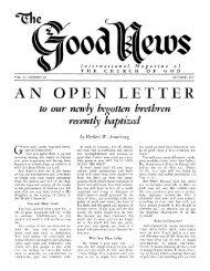 Good News 1957 (Vol VI No 10) Oct - Herbert W. Armstrong