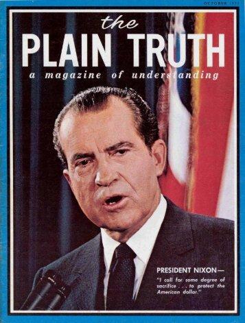 Plain Truth 1971 (Prelim No 10) Oct - Herbert W. Armstrong