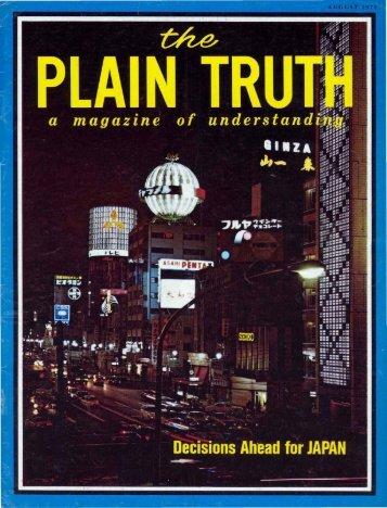 Plain Truth 1971 (Prelim No 08) Aug - Herbert W. Armstrong