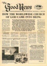 Good News 1978 (Prelim No 22) Nov 6 - Herbert W. Armstrong