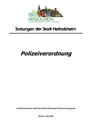 Polizeiverordnung - Stadt Herbolzheim