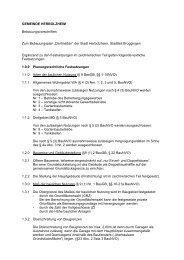 Bebauungsvorschriften - Stadt Herbolzheim