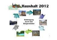 Einbringung Haushalt 2012 - Stadt Herbolzheim