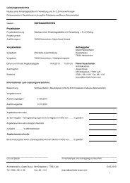 Leistungsverzeichnis - Stadt Herbolzheim