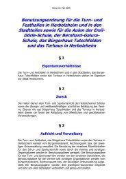 Hallenbenutzungsordnung - Stadt Herbolzheim