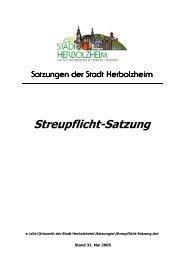 Streupflicht-Satzung - Stadt Herbolzheim