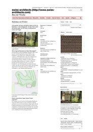 SwissArchitects Bau der Woche vom September ... - Im Lot Immobilien