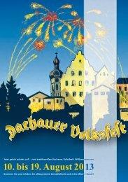 Programm des Dachauer Volksfestes