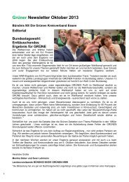 Newsletter Oktober 2013 - Bündnis 90/Die Grünen Kreisverband ...