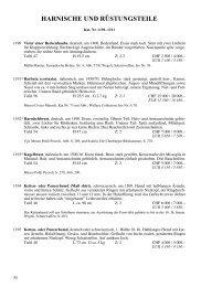Kat.-Nr. 1190-1211 Harnische & Rüstungsteile - Galerie Fischer ...