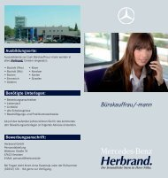 Bürokauffrau/-mann - Mercedes-Benz Herbrand GmbH