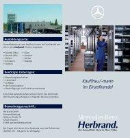 Kauffrau/-mann im Einzelhandel - Mercedes-Benz Herbrand GmbH