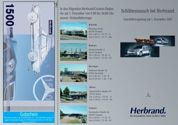 Schlittentausch bei Herbrand. Gutschein - Mercedes-Benz Herbrand ...