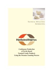 AWT Continuous Production Of Pectin - Herbstreith & Fox