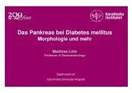 Das Pankreas bei Diabetes mellitus - Herbsttagung der Deutschen ...