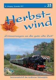 Ausgabe 35 als PDF-Download - Herbstwind Online
