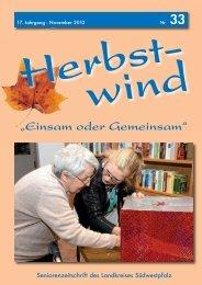 Ausgabe 33 als PDF-Download... - Herbstwind Online