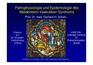 Pathophysiologie und Epidemiologie des Metabolishc-Vaskulären ...