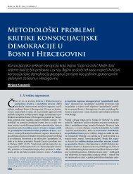 Metodološki problemi kritike konsocijacijske ... - HercegBosna