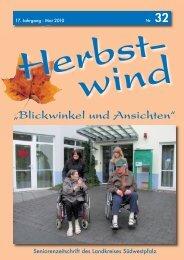 Ausgabe 32 als PDF-Download... - Herbstwind Online