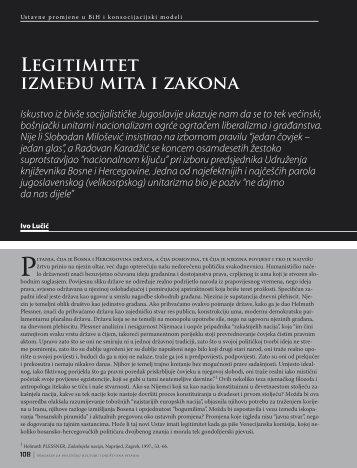 Legitimitet između mita i zakona Iskustvo iz bivše ... - HercegBosna