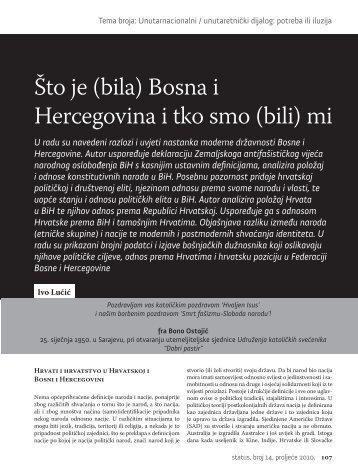 Åto je (bila) Bosna i Hercegovina i tko smo (bili) mi - HercegBosna