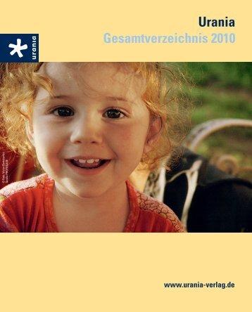 Urania Gesamtverzeichnis 2010 - Urania Verlag
