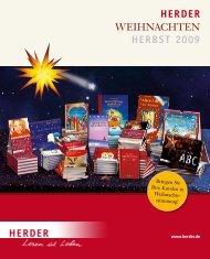 Verlag Herder • Vorschau Weihnachten • Herbst 2009