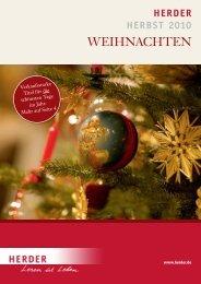 Verlag Herder GmbH, Freiburg: Vorschau Weihnachten 2010