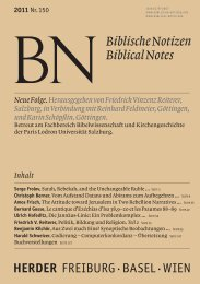 Biblische Notizen 2011, Nr. 150 - Verlag Herder