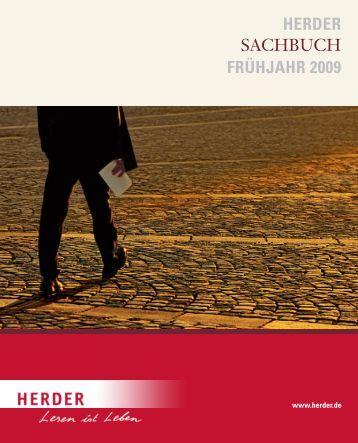 HERDER SACHBUCH FRÜHJAHR 2009 - Verlag Herder