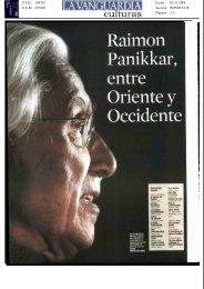 Reportaje Raimon Panikkar - Herder Editorial