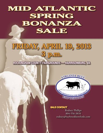 FridAY, April 19, 2013 3 p.m. - American Hereford Association
