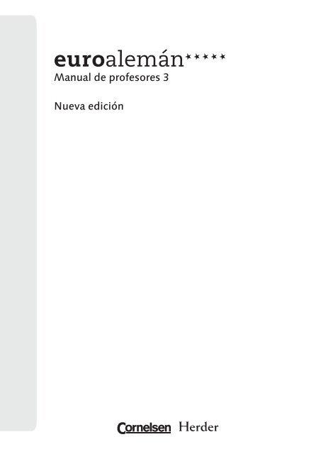 Manual De Profesores Herder Editorial
