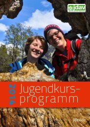 jugendkursprogramm 2014 OL.pdf - JDAV