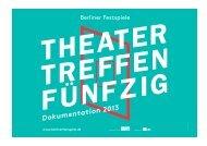 Dokumentation Theatertreffen 2013 - Berliner Festspiele
