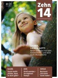 Zehn14 - Das Evangelische Elternmagazin (Pilotausgabe)